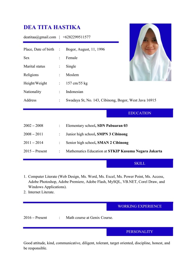 Cv Resume Contoh Resume Exles By Professional Resume